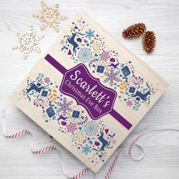 Purple Personalised Christmas Eve Box