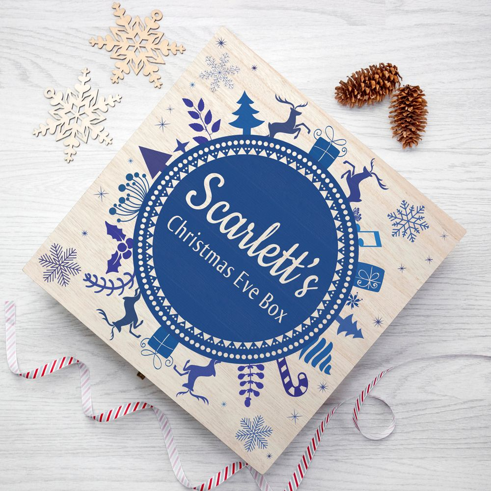 Blue Snowflake Personalised Christmas Eve Box