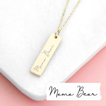 Handwriting Personalised Bar Necklace
