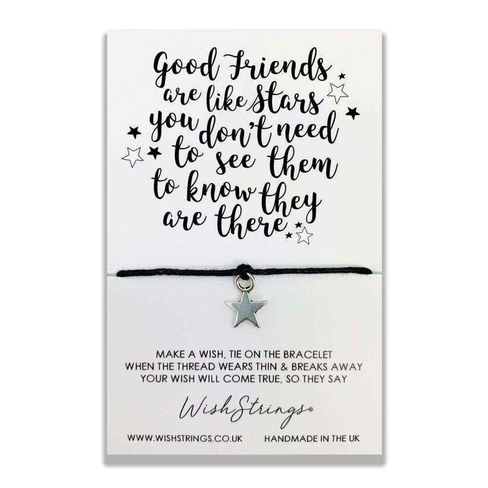 Good Friends Are Like Stars Wish Strings Bracelet