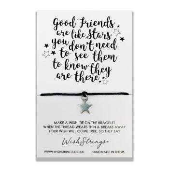 Good Friends Are Like Stars Wish Strings Bracelet