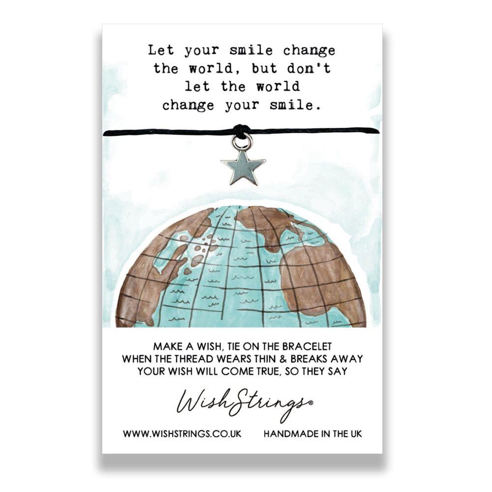 Let Your Smile Change The World WishStrings Bracelet