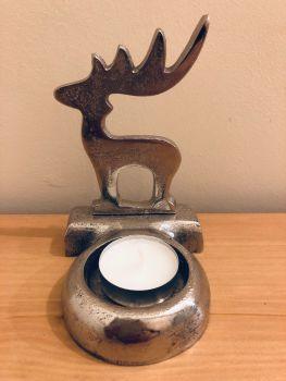 Metal Reindeer Tea Light Holder
