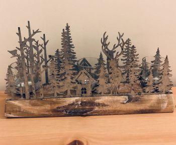 Woodland Scene Tea Light Holder