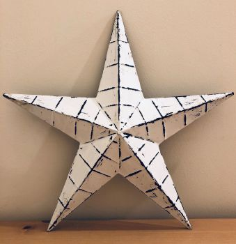 White Distressed Star