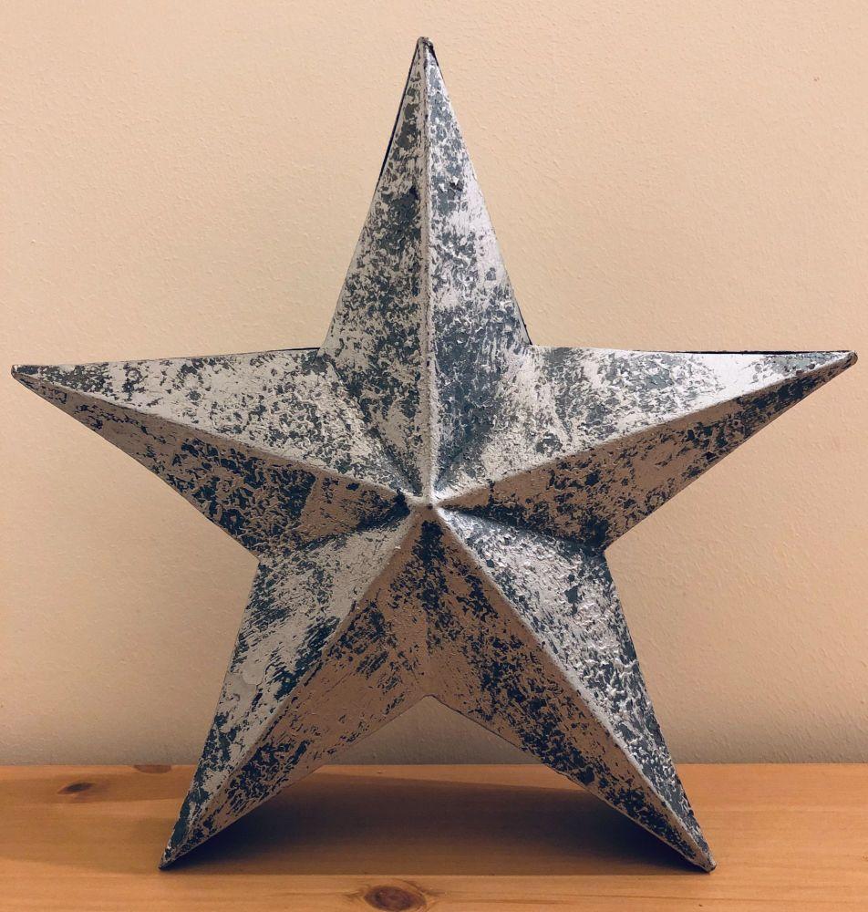 Silver/Grey 3D Standing Star