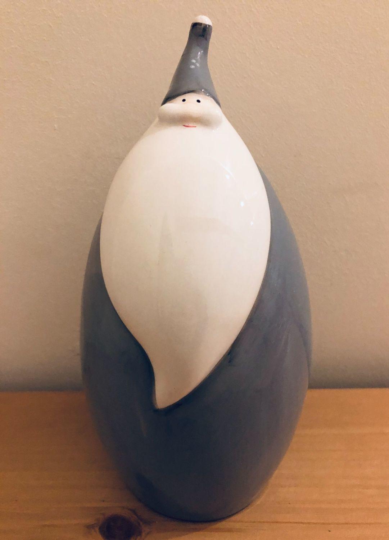 Grey Ceramic Santa