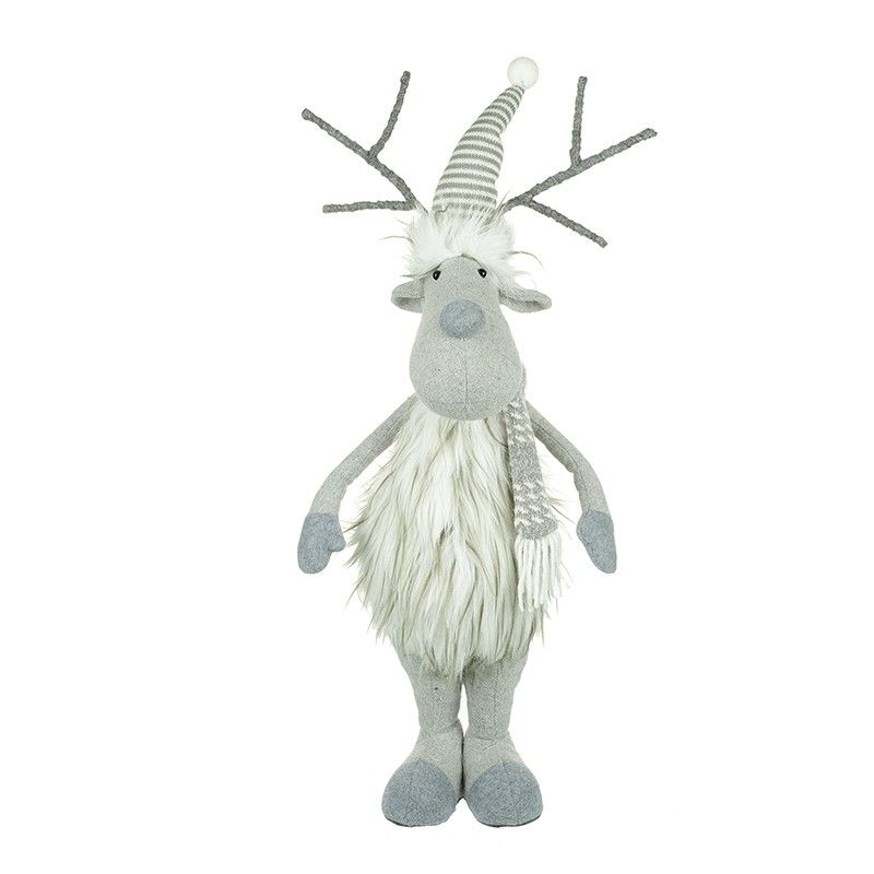 Grey/White Standing Moose