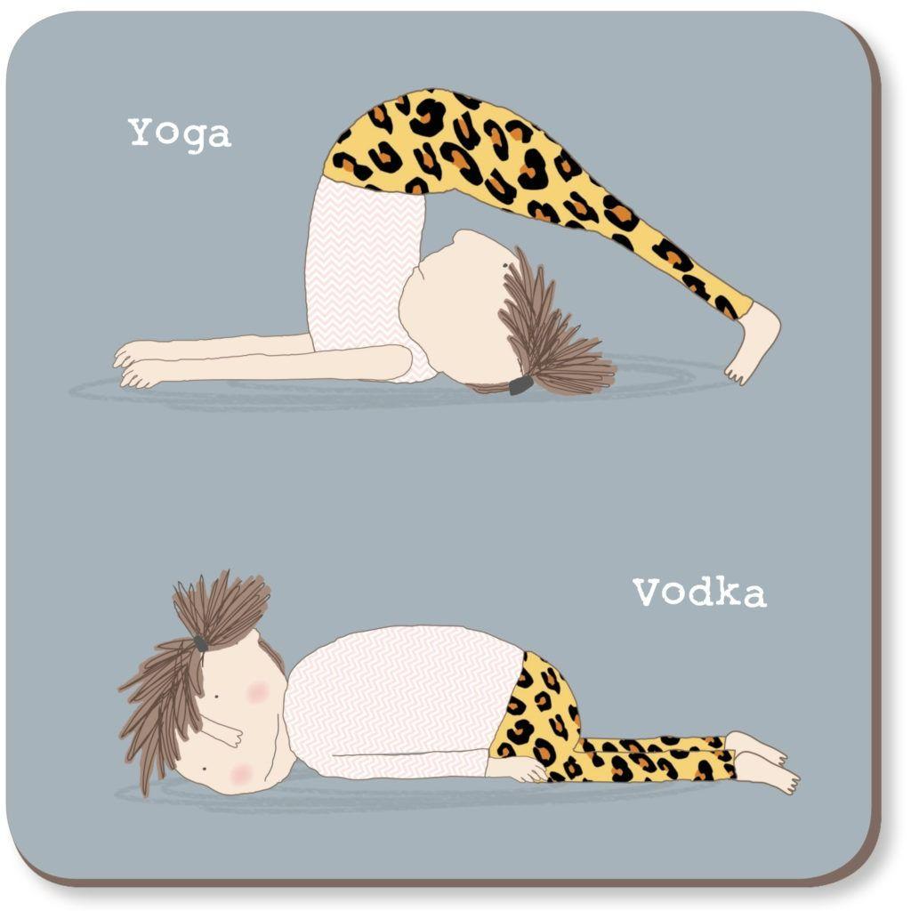 Yoga Vodka Coaster