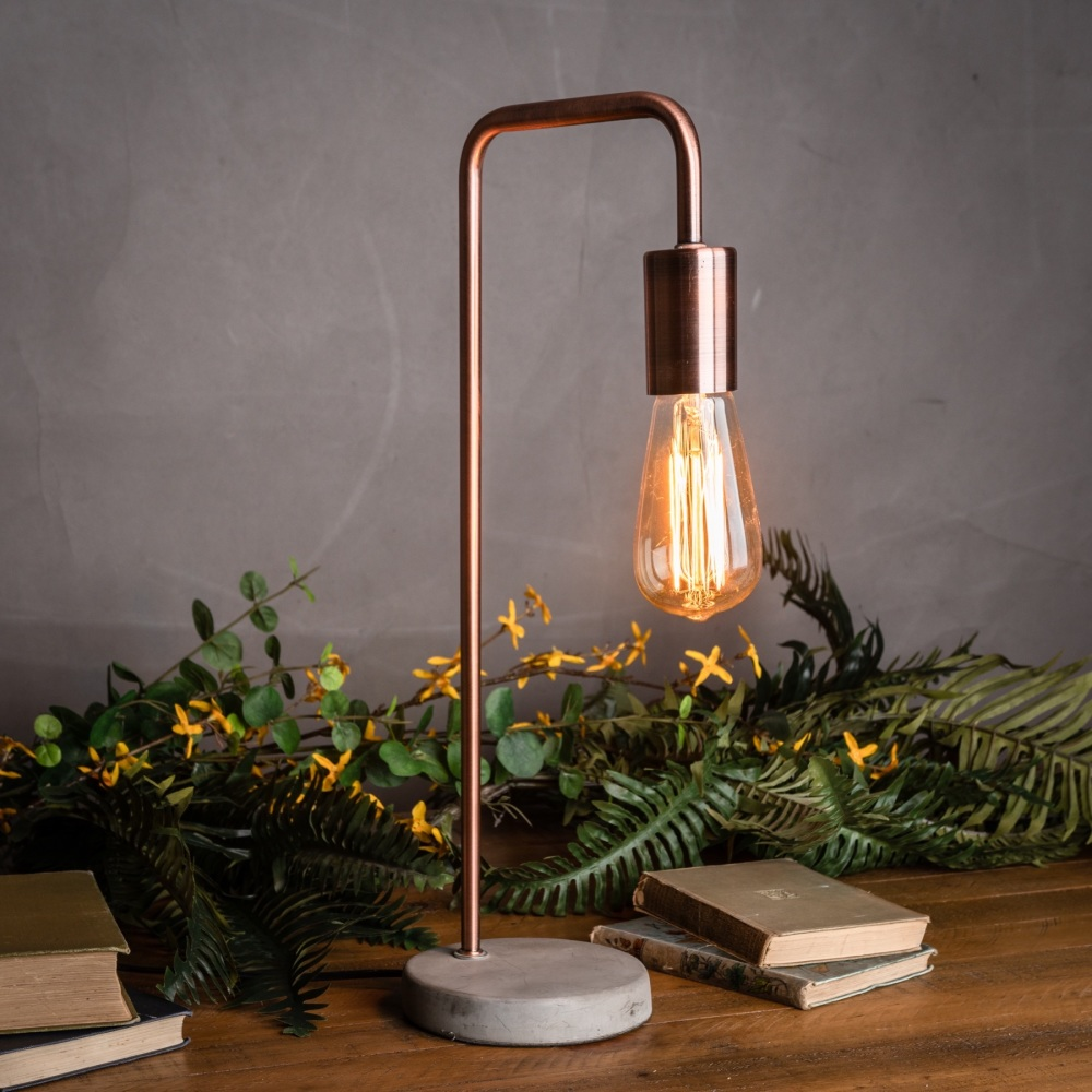 Industrial Style Copper Lamp