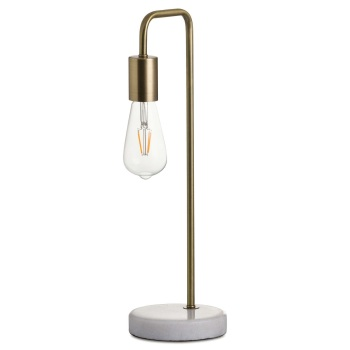 Industrial Style Brass & Marble Lamp