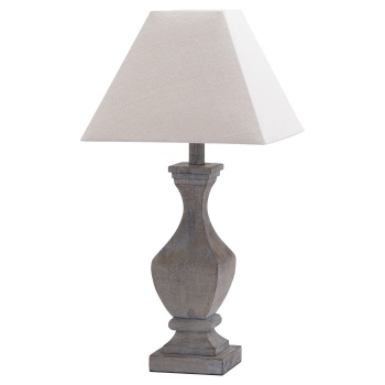 Fluted Wooden Table Lamp