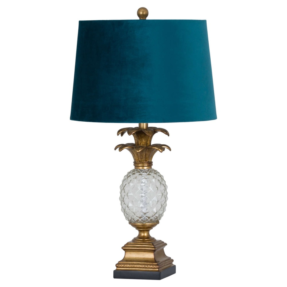 Glass Pineapple Table Lamp
