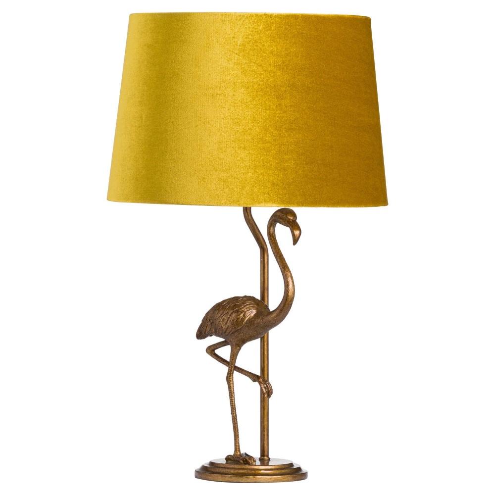 Antique Mustard & Gold Flamingo Table Lamp