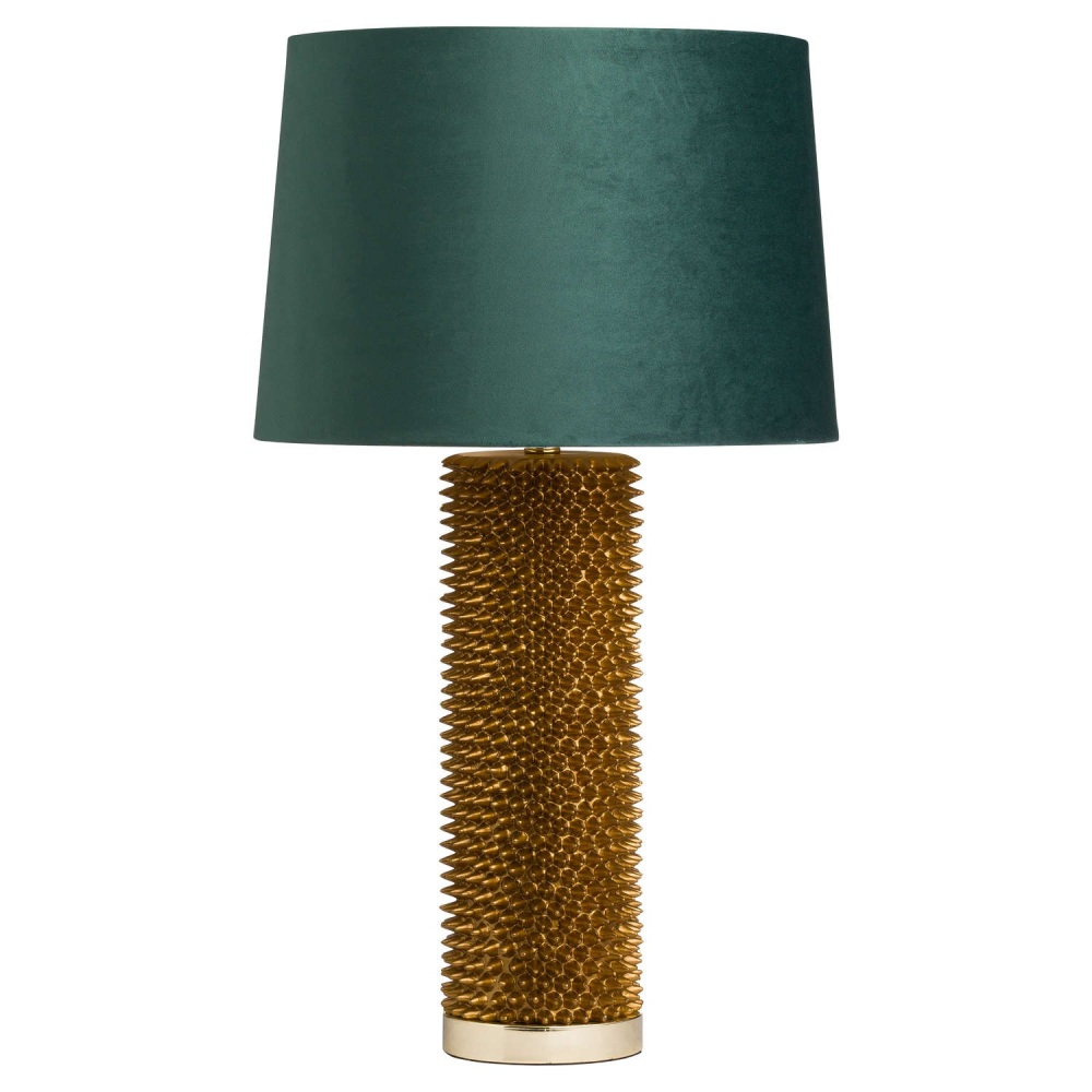Antique Emerald & Gold Table Lamp