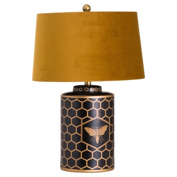 Mustard Bee Table Lamp