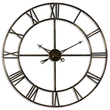 Antique Large Brass Clock
