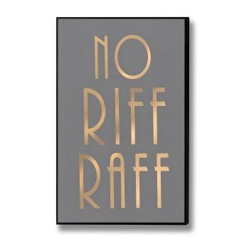 Riff Raff Gold & Grey Sign