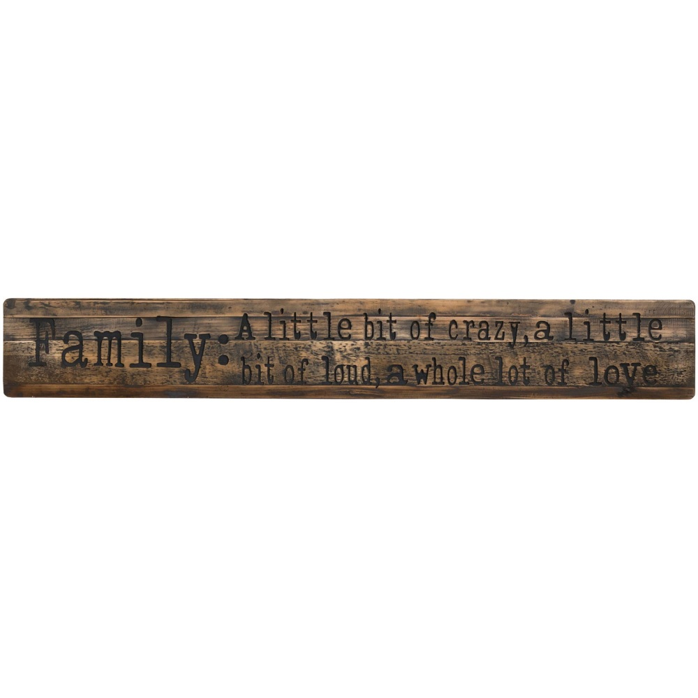 Large Rustic Family Plaque