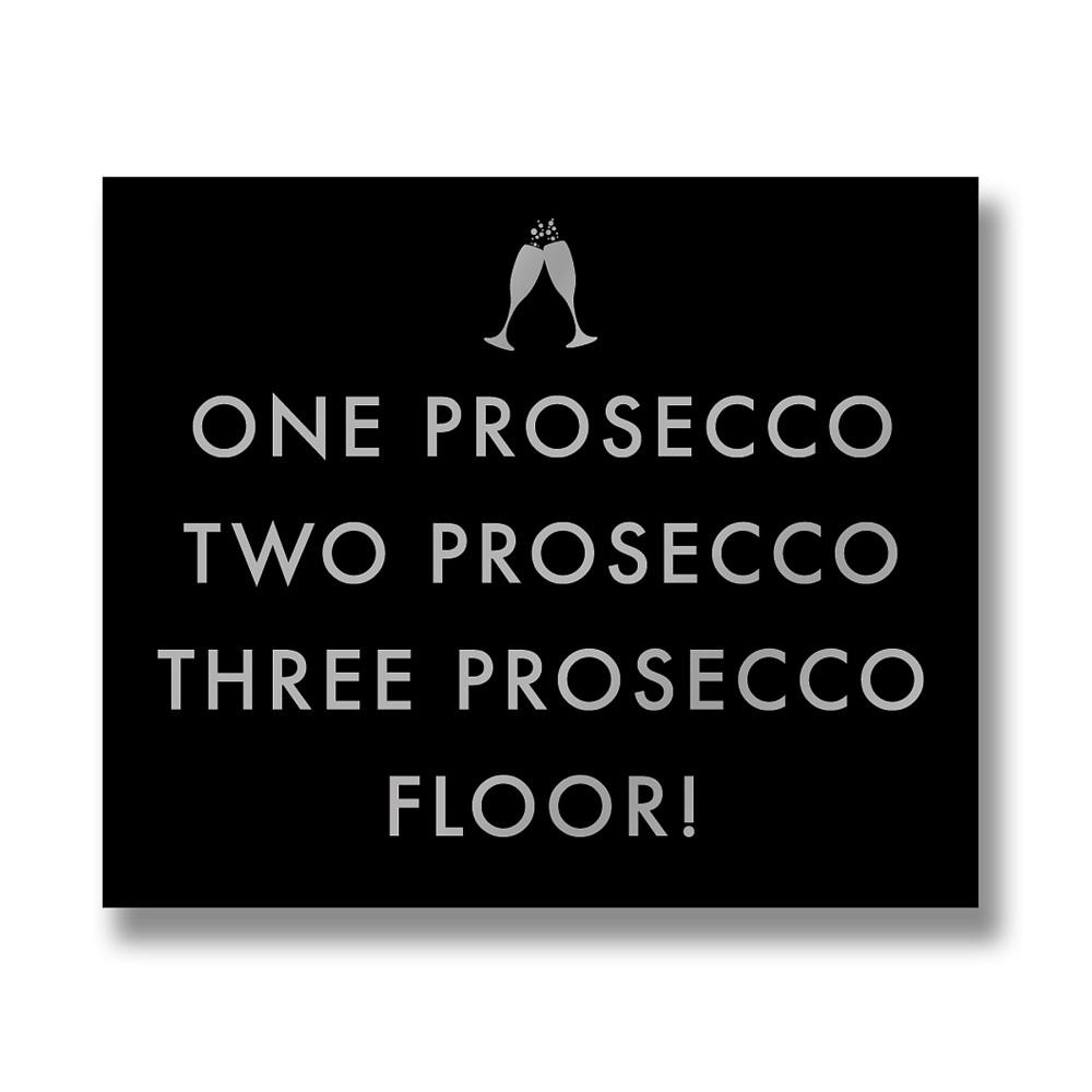 Prosecco Metallic Sign