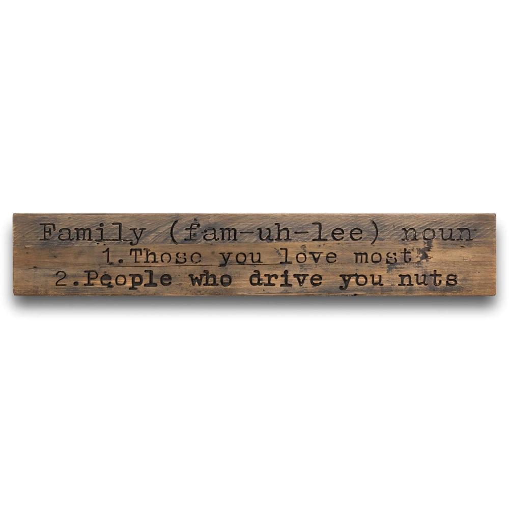 Family Noun Large Sign