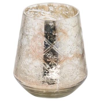 Large Silver Foil Vase