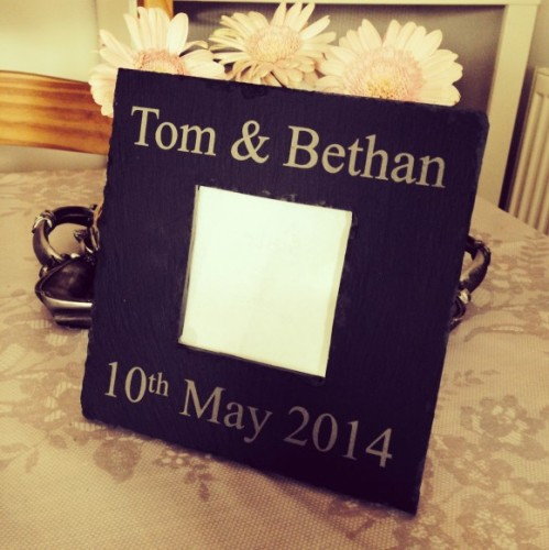 Engagement & Wedding Slate Frame