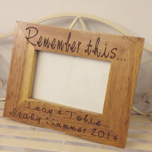 Remember This Oak Frame