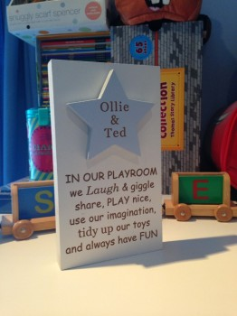 Freestanding Playroom Sign