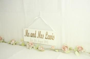 Mr & Mrs Est. Hanging Sign