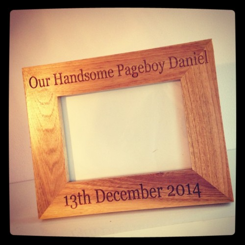 Page Boy Picture Frame