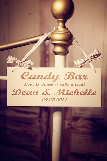 Candy Bar Hanging Sign