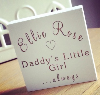 Daddy's Little Girl Mini Block