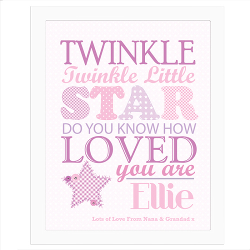 Twinkle Twinkle Girls Framed Poster