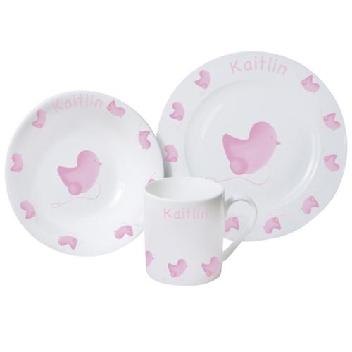 Pink Chick China Breakfast Set