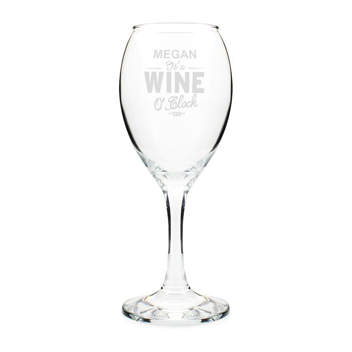 Wine O'Clock Glass
