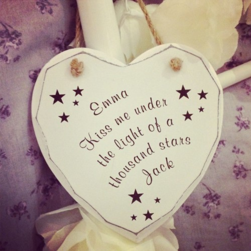 Kiss Me Under The Stars Shabby Heart