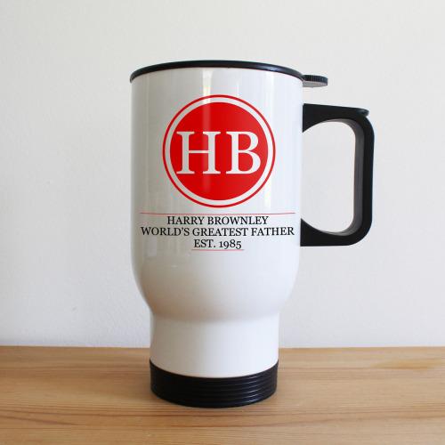 Initials Monogram Travel Mug