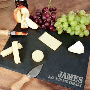 Rustic Slate Cheese Board