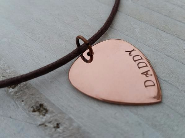 Copper Guitar Daddy Pendant