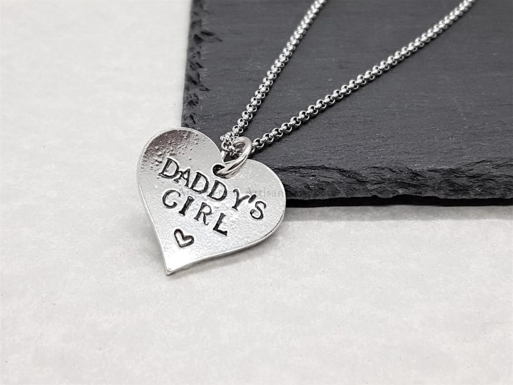 Pewter Daddy's Girl Pendant