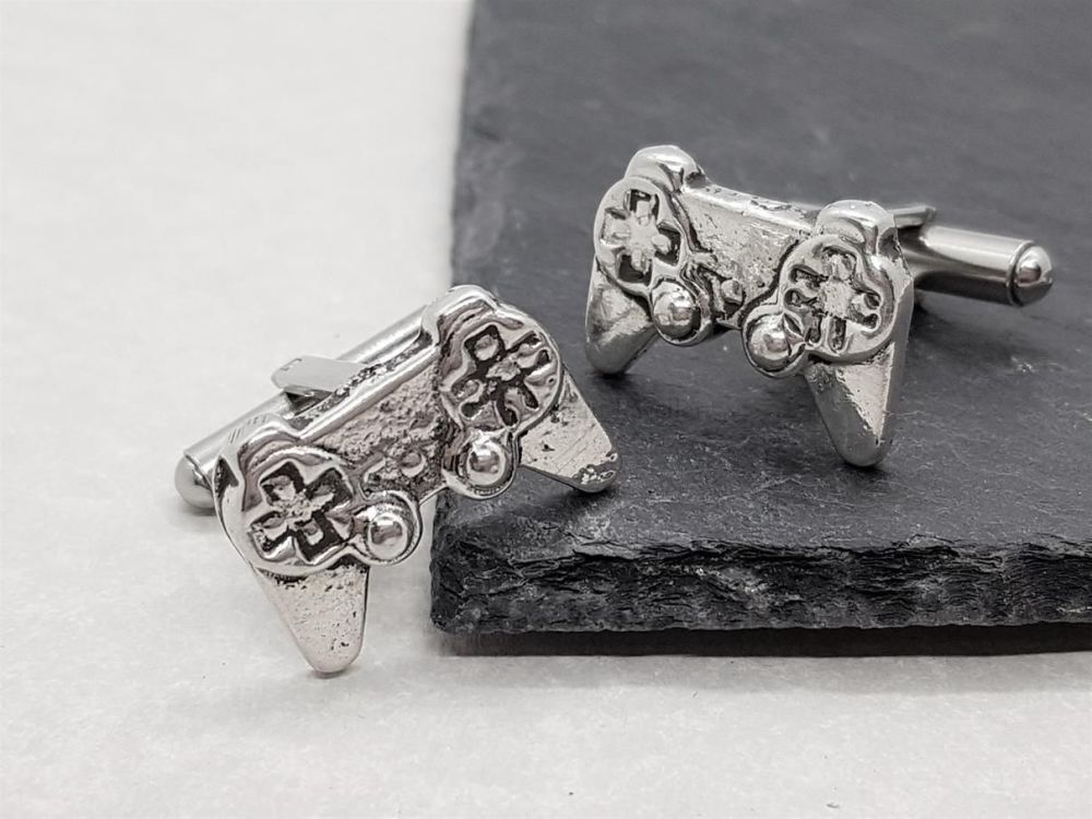 Pewter Game Controller Cufflinks