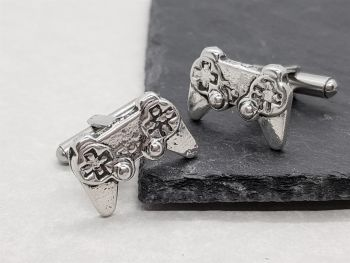 Cufflinks - Pewter - Game Controller