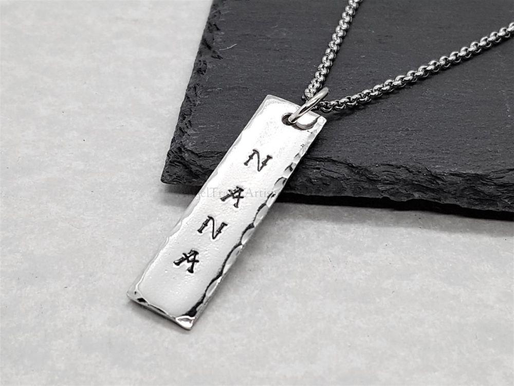 Pewter Nana Pendant