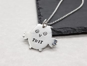 Necklace - Pewter - Not So Wise Owl - Twit
