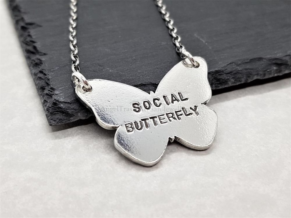 Pewter Social Butterfly