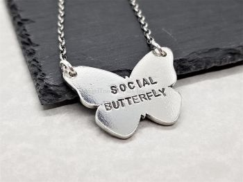 Necklace - Pewter - Social Butterfly