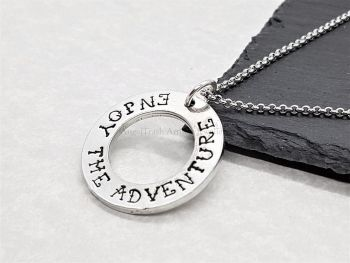 Necklace - Pewter - Enjoy The Adventure