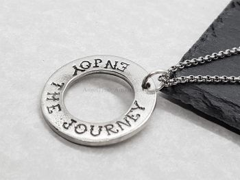 Necklace - Pewter - Enjoy The Journey