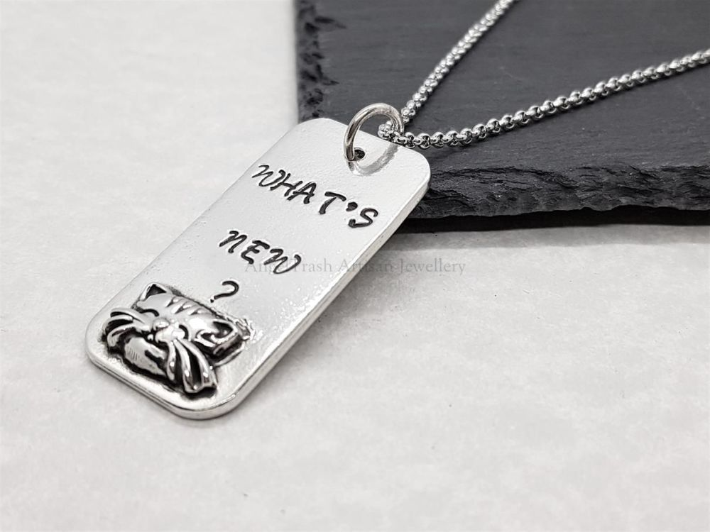 Pewter What's New ? Pendant